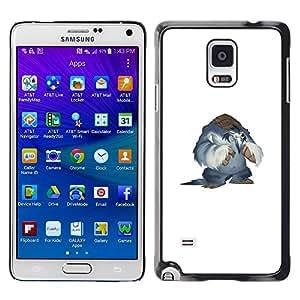 EJOY---Cubierta de la caja de protección la piel dura para el / Samsung Galaxy Note 4 / --Nieve Yeti