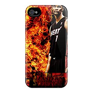SherriFakhry Iphone 4/4s Scratch Protection Mobile Case Custom Stylish Miami Heat Pictures [SAx15861snTr]