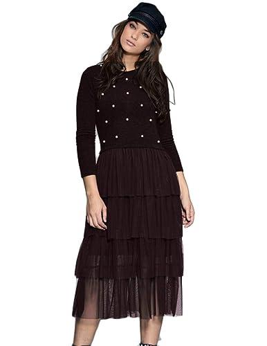 Vestido con Perlas-Falda EN Tul Negro M Negro: Amazon.es: Zapatos ...