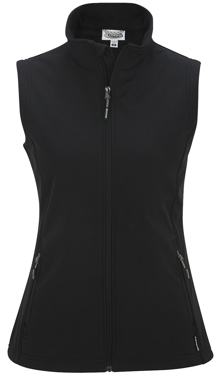 Edwards Soft-Shell Vest - Women's, Black, Large