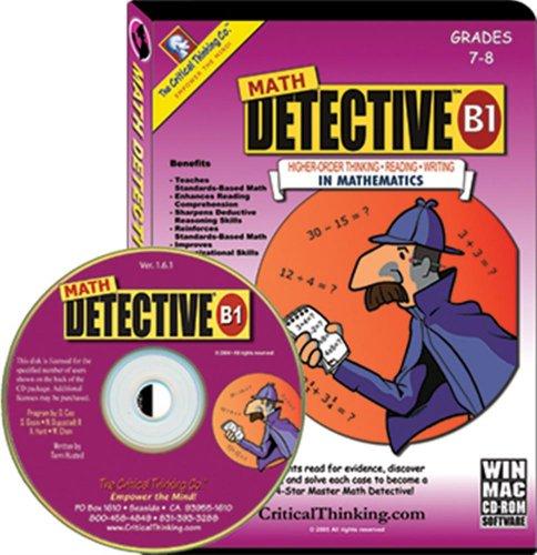 Math Detective Software B1 Cd