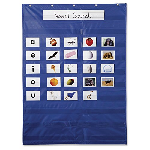 "Carson-Dellosa Publishing CD-5601 Original Pocket Chart, 31"" x 42"", 10 Rows of Pockets, Blue"