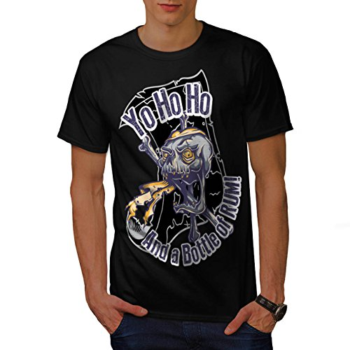 Yo Ho Ho Bottle Rum Dead Pirate Men S T-shirt   Wellcoda - Spider Mixer Bottle