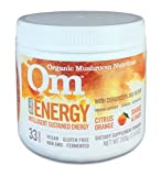 Om Organic Mushroom Nutrition Suppement, Energy with Cordyceps & Reishi, Citrus Orange, 100 servings, 7.14oz, 200 grams