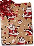 24'' X 100' Swingin' Santa/Kraft Gift Wrap
