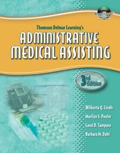 Thomson Delmar Learnings Administrative Medical Assisting  Book With Cd Rom  Only
