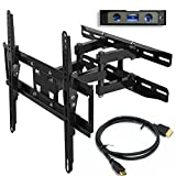 "Everstone TV Wall Mount Fit for Most 23""-55"" TVs Dual Articulating Arm Full"