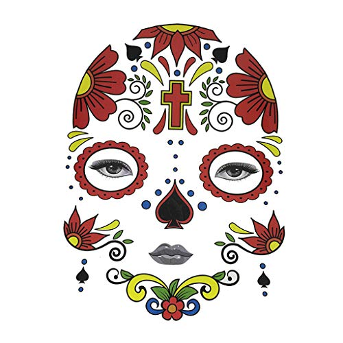 Fenteer Halloween Day of Dead Temporary Face Tattoo