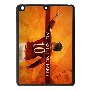 Italian Football Super Star&Francesco Totti Background Case Cover for IPad Air - Hard PC Back&4 sides TPU Protective Case Shell-Perfect as gift