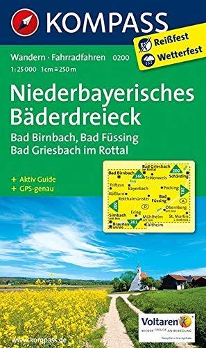 KOMPASS Wanderkarte Niederbayerisches Bäderdreieck  Wanderkarte Mit Aktiv Guide Und Radwegen. GPS Genau.1 25000