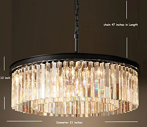 Lumos Luxury Modern Crystal Chandelier Pendant Ceiling Lamp/Crystal lighting fixture for Dining Room, Living Room (5 lights)