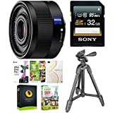 Sony Sonnar T FE 35mm f/2.8 ZA Lens w/32GB SD Card & Accessory Bundle