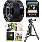 Sony Sonnar T FE 35mm f/2.8 ZA Lens w/32GB SD Card & Accessory Bundle