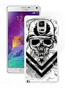 New Unique And Popular Samsung Galaxy Note 4 Case Designed With metal mulisha 1 White Samsung Note 4 Cover