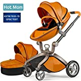 Baby Stroller 2018, Hot Mom Baby Carriage with Bassinet Combo,Brown,Baby Bid Gift