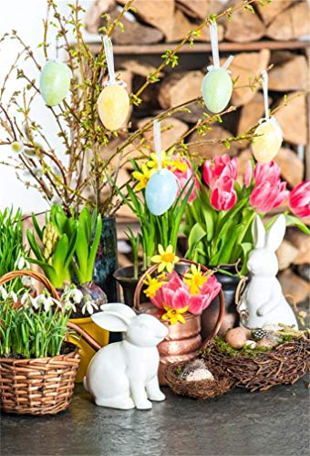 Leyiyi 5x7ft photography Background Happy Easter Day Backdro