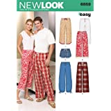 New Look Sewing Pattern 6859 Miss/Men Separates, Size A (X-Small - Small - Medium - Large - X-Large)