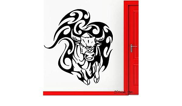 Geiqianjiumai Toro Animal Pegatinas de Pared Tatuaje del Toro ...