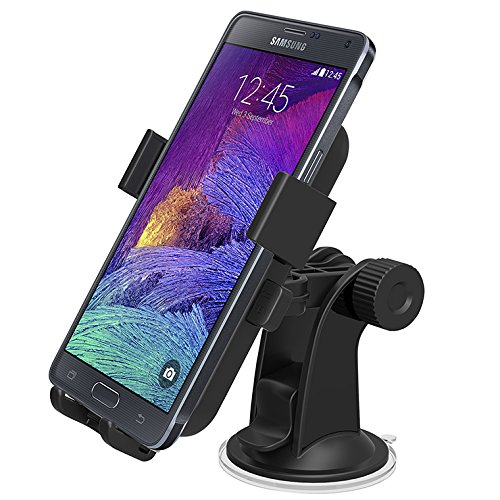 Car Mount iOttie Easy One Touch XL Windshield Dashboard Car Mount Holder for Amazon Fire Phone and iPhone 6 Plus (5.5) Galaxy S5S4Note4Note3 LG G4