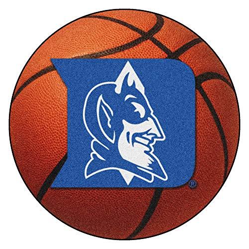 FANMATS NCAA Duke University Blue Devils Nylon Face Basketball Rug Duke Blue Devils Basketball Rug