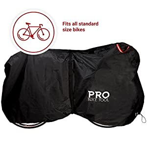 Pro Bike Cover for Outdoor Bicycle Storage - Large, XL & XXL - Heavy Duty Ripstop Material, Waterproof & Anti-UV - Protection from All Weather Conditions for Mountain & Road Bikes (Black - XXL)