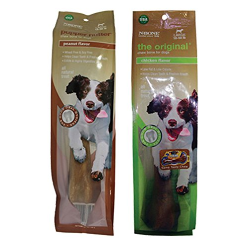 N-Bone Bundle Large Size Chew Bone For Dogs 2 Flavor Variety