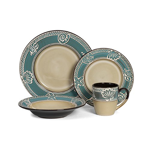 Pfaltzgraff Everyday Montego 16-Piece Dinnerware Set  sc 1 st  Amazon.com & Coastal Dishes Dinnerware Sets: Amazon.com