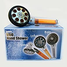 vitamin c handheld lotus shower head with water filter by sonaki 2 shower filters included removes up to 999 of chlorine and chloramines