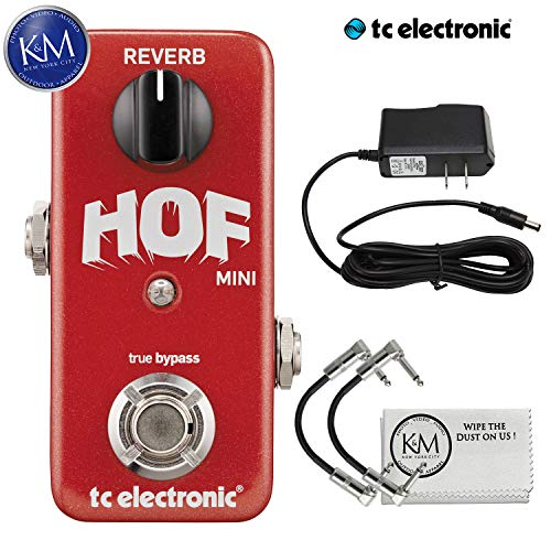 TC Electronic Hall of Fame Mini Pedal + 9V Power Supply + (2) Patch Cables + K&M Cloth