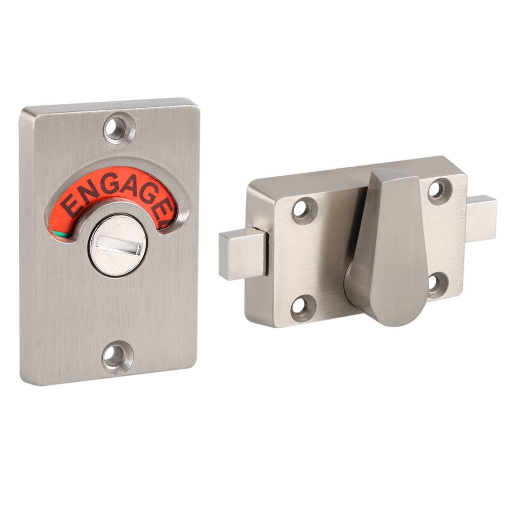 cerrojo para puerta con cerrojo Indicador de privacidad con tornillos libres engag/ées para los inodoros Cerrojo Indicador