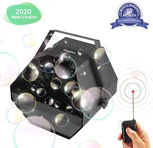 Theefun Máquina de Burbujas Portátil Alto Rendimiento Fabricante de pompas Automatic Máquina Burbujas y Motor silencioso para Fiestas de Cumpleaños, Bodas, Conciertos, Escenario (Negro): Amazon.es: Instrumentos musicales