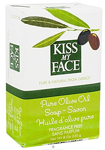 Kiss My Face Bar Soap Pure Olive Oil Fragrance Free -- 8 oz (Kiss My Face Soap)