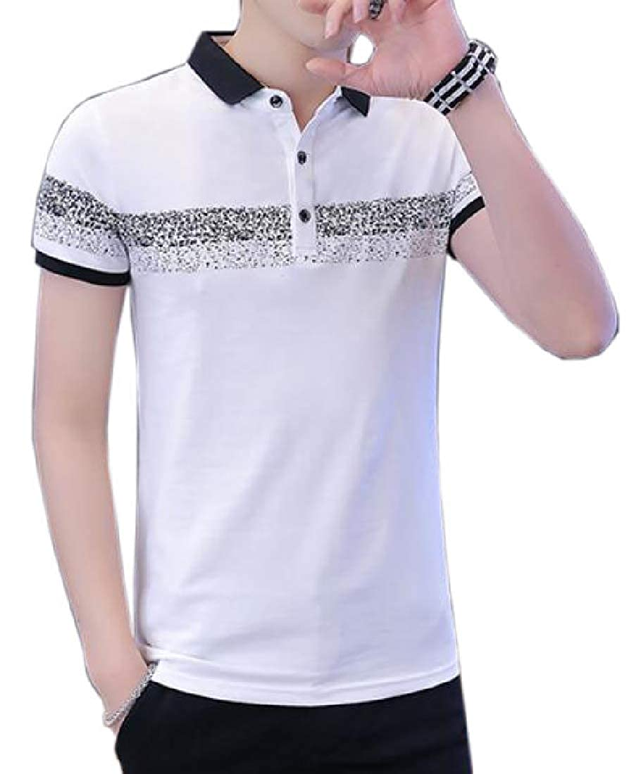 shinianlaile Mens Polo Shirt Casual Cotton Short Sleeve Slim Polo Shirts
