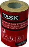 Task Tools T32305 3-2/3-Inch by 25 Feet Aluminum Oxide Sandpaper Roll, 60 Grit