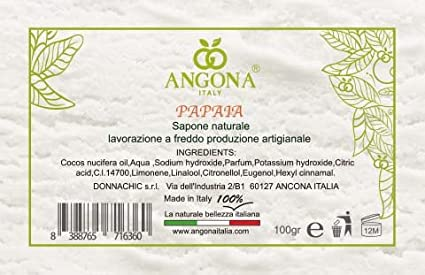 ANGONA Paquete de Jabón 100% Natural 3 tipos x 100g -Con ...