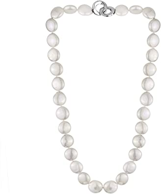 Freshwater pearl necklace with lobster clasp cubic zirconia women/'s 18/'/'