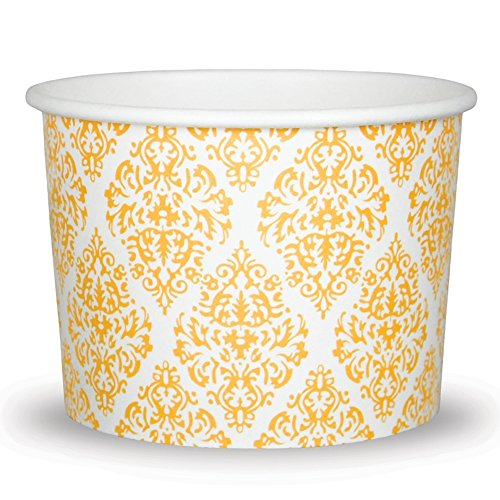 Premium 12 oz Elegant Gold Paper Ice Cream Cups For Weddings and Parties - Comes In Many Colors & Sizes! Fast Shipping - Frozen Dessert Supplies - Made in USA! 50 Count by Frozen Dessert Supplies (Image #3)