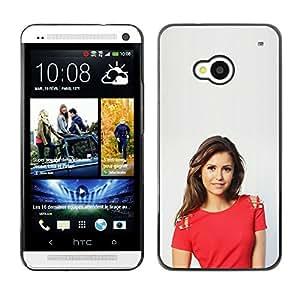 // PHONE CASE GIFT // Duro Estuche protector PC Cáscara Plástico Carcasa Funda Hard Protective Case for HTC One M7 / Niña bonita /