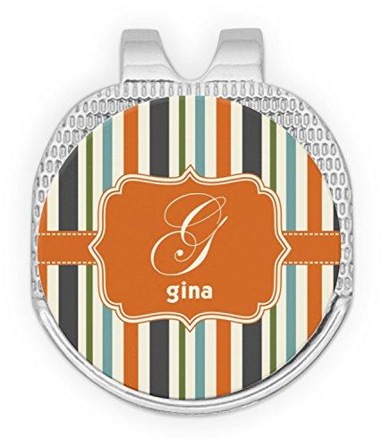 RNK Shops Orange & Blue Stripes Golf Ball Marker - Hat Clip by RNK Shops