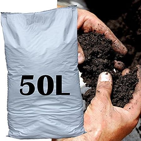 50L materia orgánica enmienda del suelo acondicionado jardín cama frontera crecer piensos plantas: Amazon.es: Hogar