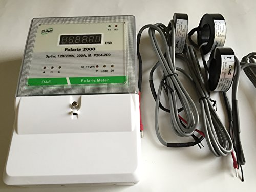 DAE P204-200-S KIT L, UL Listed kWh Smart Submeter Polaris 2000, 3 phase, 4 wire, 200A, 120/208v, with 3 Solid Core CTs
