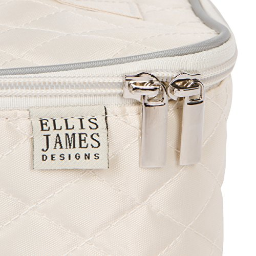 0defe20668ebf Ellis James Designs Large Travel Makeup Bag Organizer - Cosmetic Train Case  Toiletry Bags for Women