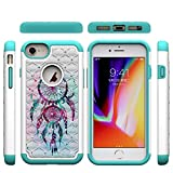 iPhone 6/6S/7/8 Case,Rugged Slim 2 in 1 Hybrid Case Inner Soft TPU Bumper Hard PC Back Cover with Colorful Pattern & Point Drill Case Compatible with Apple iPhone 6/6S/7/8 [4.7 inch] -Dreamcatcher