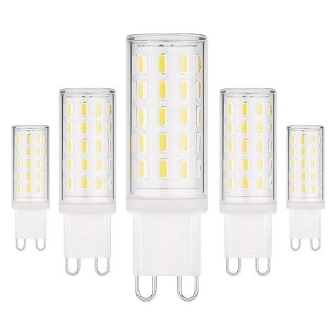 Bombillas LED EKSAVE G9, sin parpadeo, sin luz estroboscópica, 5W, equivalentes a