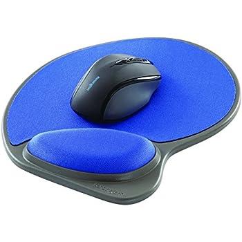 Amazon Com Kensington Wrist Pillow Mouse Pad With Wrist Rest In Blue L57803us