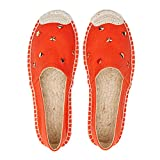 York Zhu Women Flats,Casual Espadrilles Canvas Jacquard Weave Fishermen Loafers Shoes
