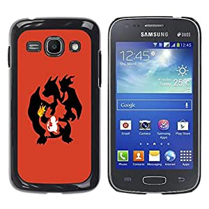Design for Girls Plastic Cover Case FOR Samsung Galaxy Ace 3 Poke Flaming Dragon OBBA