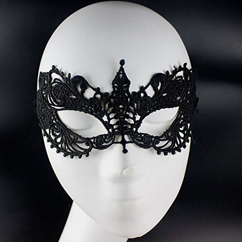 [Women Girl Sexy Fashion Cosplay Eyemask Eye Mask for Halloween Masquerade Party Carnival and Stage Performance] (Half Doll Half Zombie Costume)