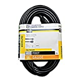 ME, 40-Feet Round Vinyl Outdoor. Extension Cord, Black