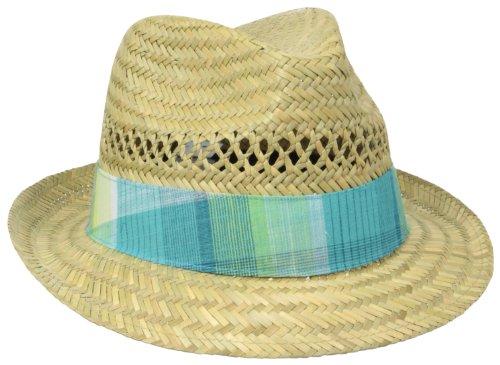 Columbia Women's Sun Drifter Straw Hat, Natural/Geyser Plaid, One Size